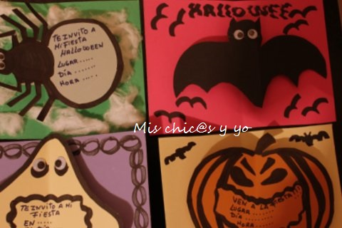 Invitaciones infantiles Halloween