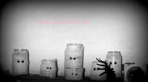 Manualidad momias halloween