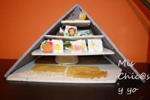 Manualidad pirámide de alimentos