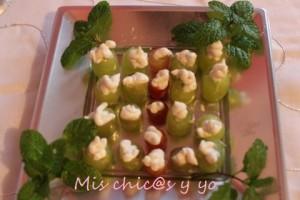 Gorgonzola y uvas