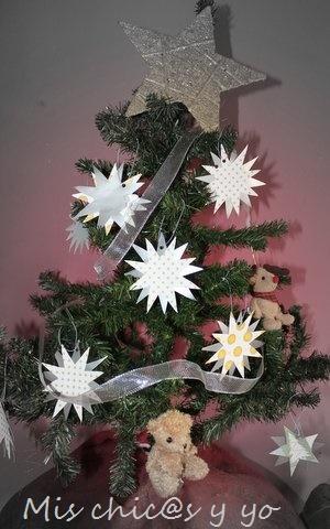 Estrellas De Navidad Para Decorar.Estrellas De Cartulina Para Decorar El Arbol De Navidad