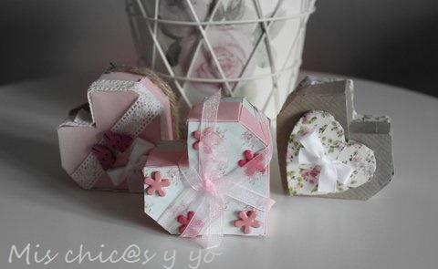 Cajas de corazón de cartulina