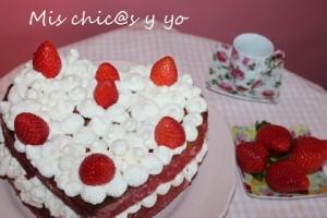 Receta de pastel con forma de corazón
