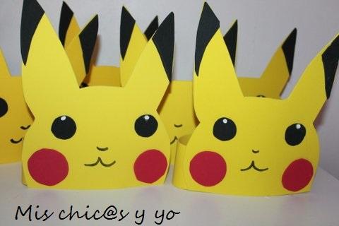Gorros de Pikachu con goma eva