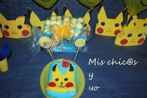tarta aniversario pokémon
