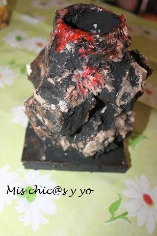 Maqueta de volcan