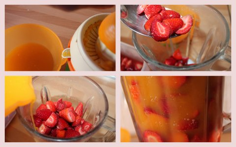 Smoothie de fresa y naranja