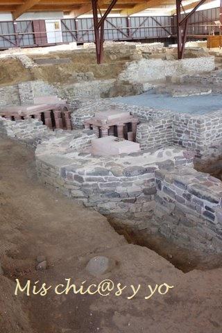 Detalle de los rstos arqueológicos en el arqueositio de Camesa-Rebolledo en Cantabria
