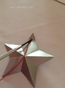 Estrella de cartulina para Navidad