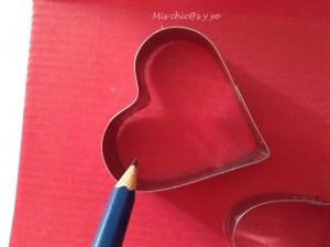 Manualidad con corazones