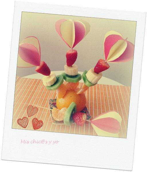 Manualidad con corazones 3D de papel