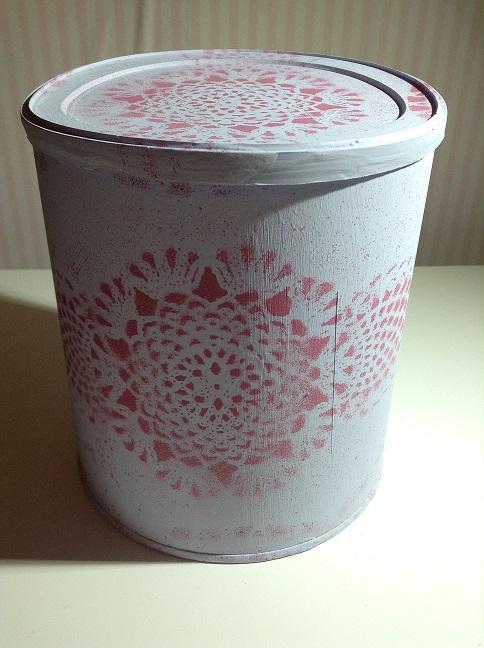 manualidad chalk paint encaje