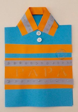 Tarjeta de felicitación - camisa para día del padre