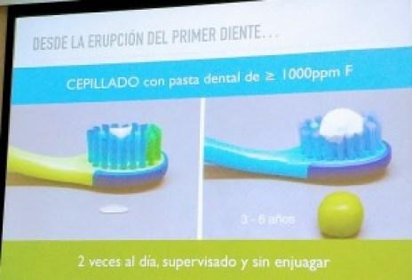 Cantidad pasta de dientes, niños y bebés