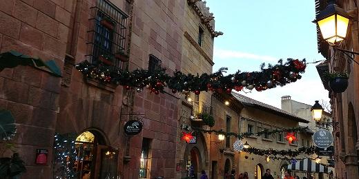 Decoración navidad Poble espanyol