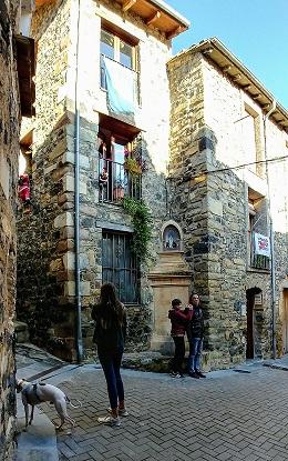 Fachadas de piedra de Castellfollit de la Roca