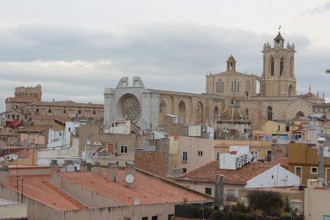 Vistas a la catedral de Tarragona