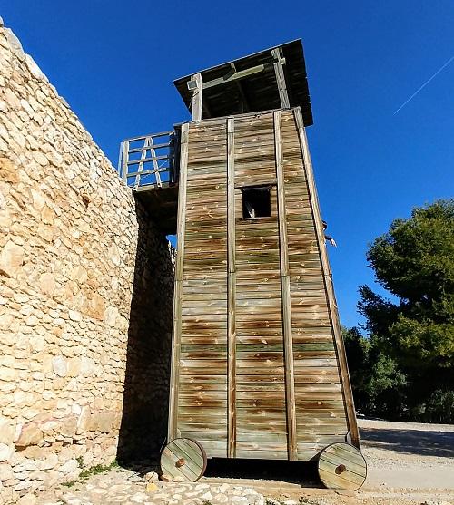 Torre de asalto. Ciutadella Ibérica Calafell