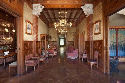 Casa Navas en Reus, salón para recibir visitas