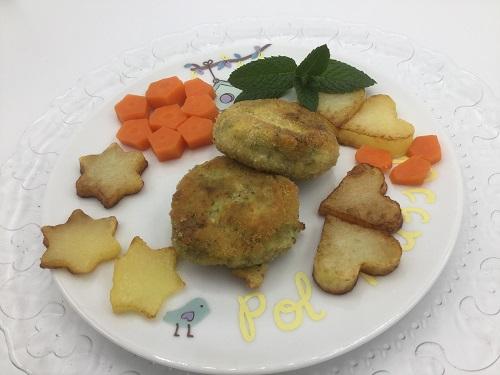 Hamburguesas de Brócoli con guarnición