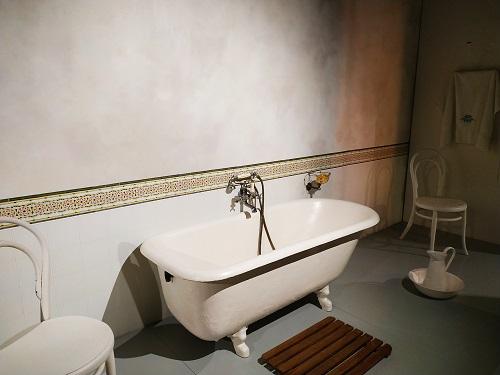 Detalle de un baño antiguo