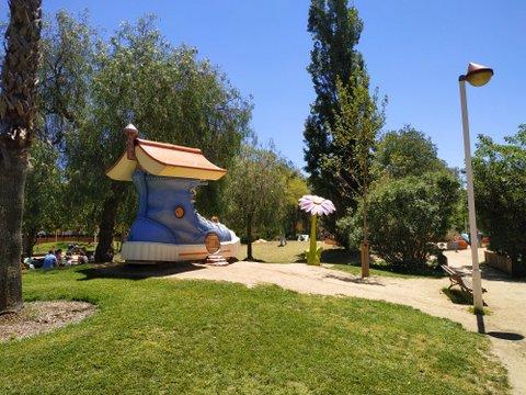 Esculturas gigantes del Parc Francesc Macià en Malgrat de Mar