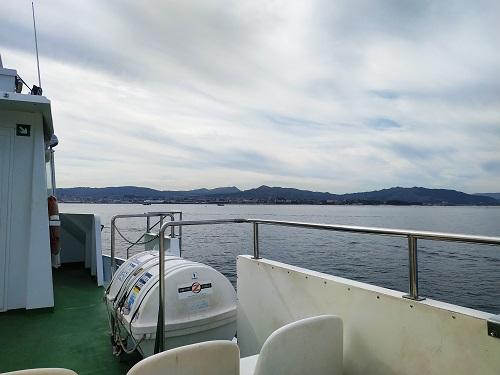 Detalle del Barco de Vigo a Cangas do Morrazo