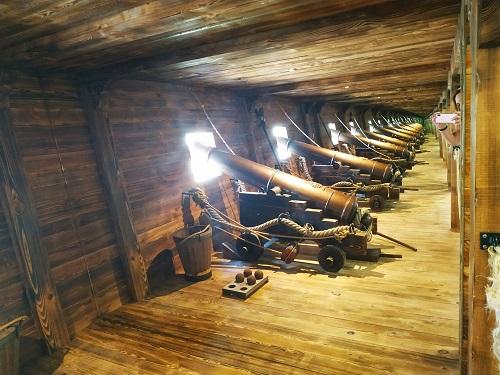 Recreación de cañones en Meirande