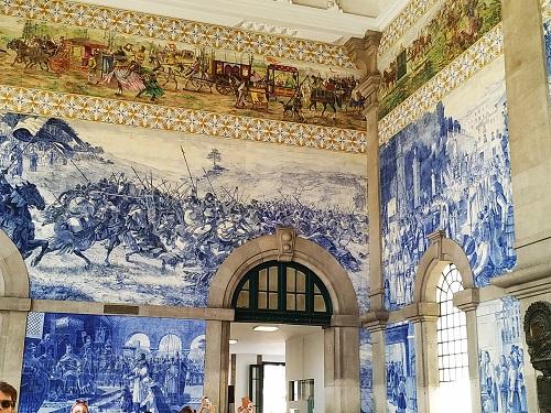 Detalle de azulejos, estación de san Benito, Oporto