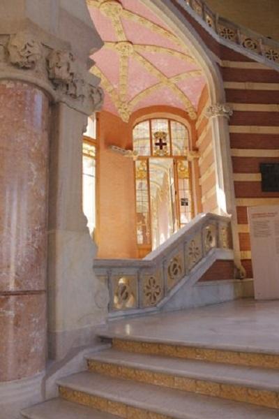 Vestibulo del hospital de Sant Pau