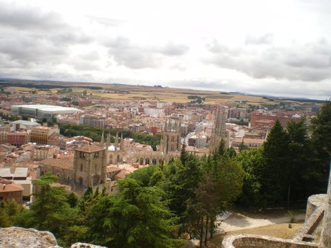 Vistas, castillo de Burgos