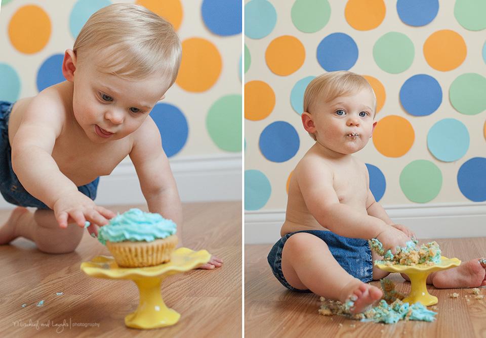 Mischief And Laughs Photography Spotty Dotty Cake Smash Cincinnati