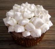 Sparkling Strawberry Cupcake with petal design