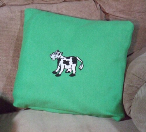 Embroidered Cow by Mischyf