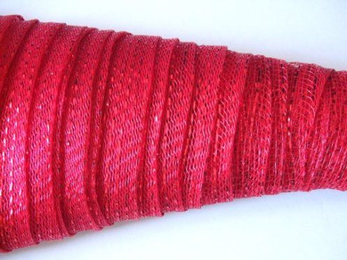 red mesh close up