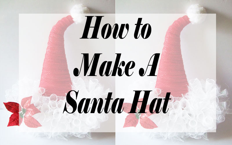 How to make the Hot Santa Hat Wreath Craft