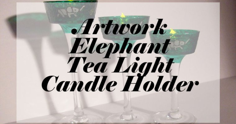 New Artwork – Stain Glass Elephant Tea Light Holders