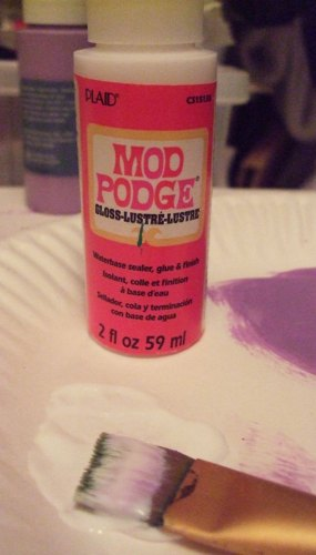 Mod Podge and sprinkle with clear glitter