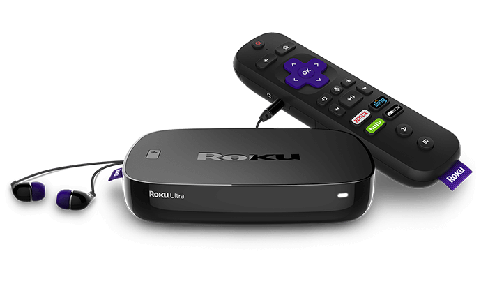 Roku Ultra box for binge watching our favorite tv shows.