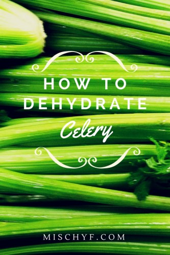 How to dehydrate celery to give your recipes, soups and stews a flavor lift. mischyf.com