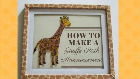 A Unique Birth Announcement – Step by Step Tutorial
