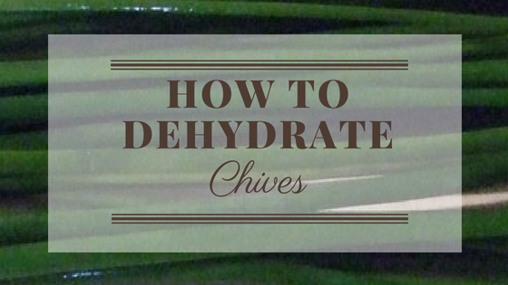 How To Dehydrate Chives