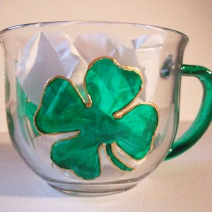 Shamrock Clover Coffee Cup, Tea Mug St Patrick's Day