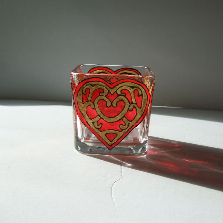 Red Heart Candle Holder, Legend of Zelda Twilight Princess, Heart Container
