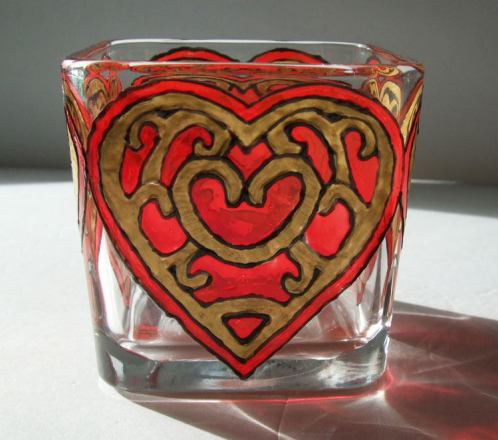 The Legend of Zelda - Red Heart Candle Holder