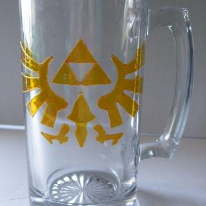Tri force Stein Mug, Eagle Hyrule Crest, Legend of Zelda