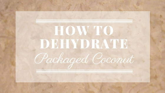 Dehydrate Packaged Coconut