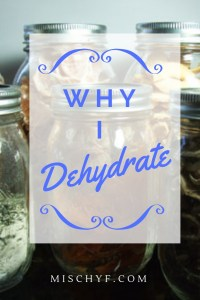Why I Dehydrate Pin. I explain why I like to dehydrate.