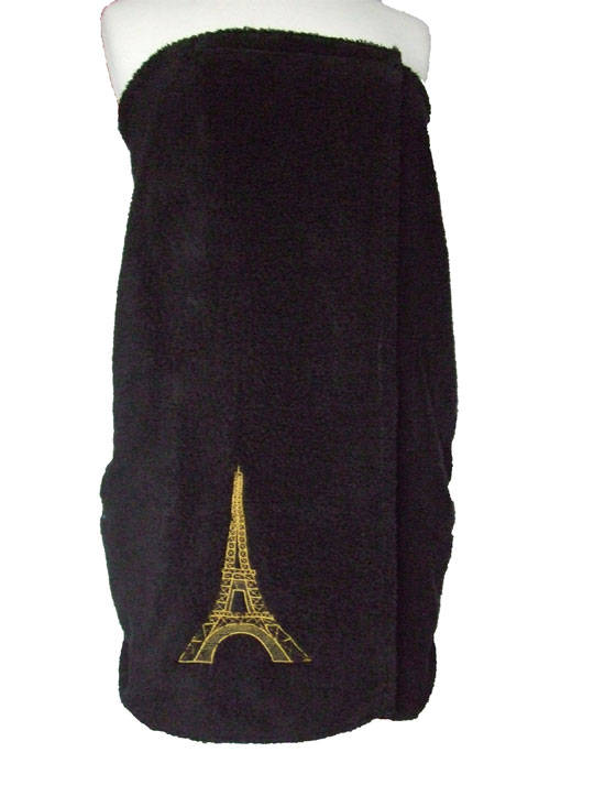 Eiffel Tower towel wrap