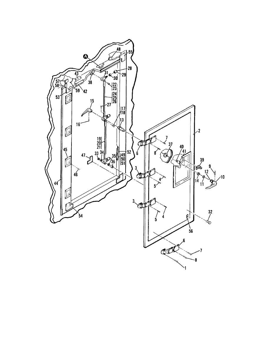 Figure 3 . Personnel and Door Stop Door Installation